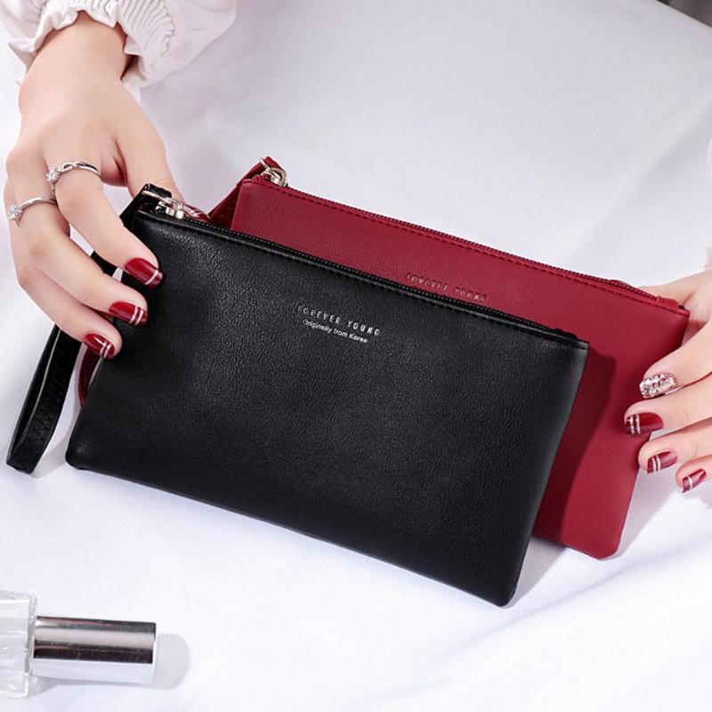 Women Clutch Bag Simple Black Pu Leather Crossbody Bags Enveloped Shaped Messenger Shoulder Bags Big Sale Pochette Femme Z95(China)