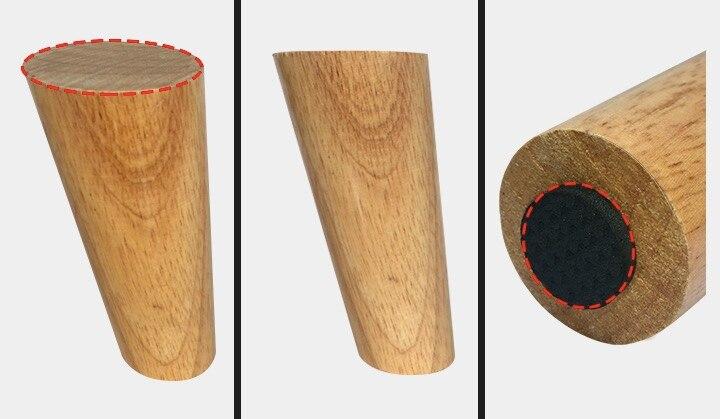 4 ədəd / Lot H: 15CM Çapı: 4-6cm Nordic Oblique Divan Ağac - Mebel - Fotoqrafiya 2