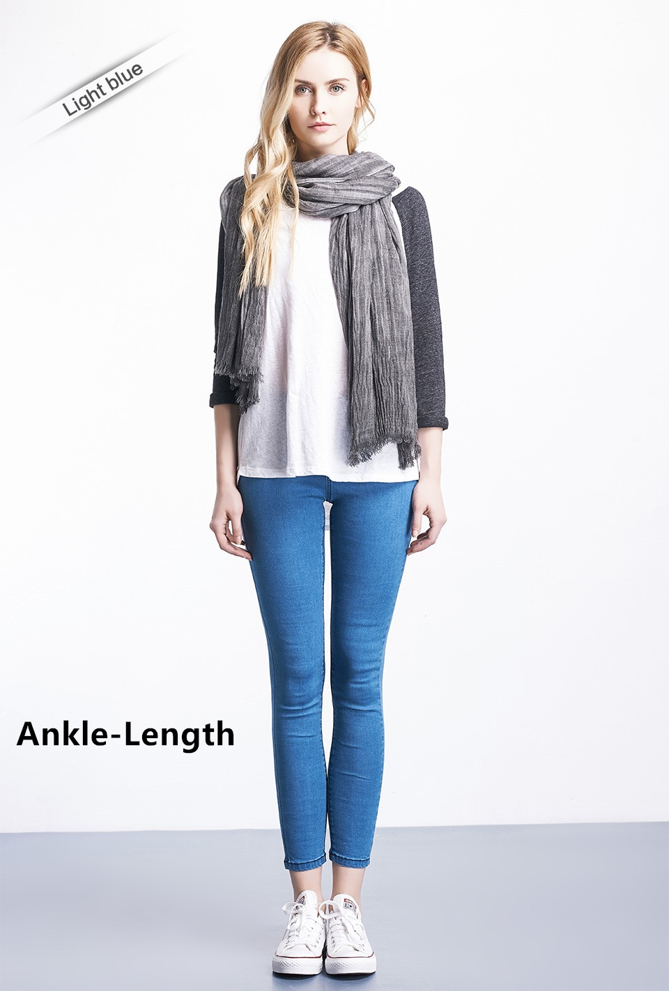 Women Plus Size Casual Slim Stretch Cotton Denim Jeans Blue black 20