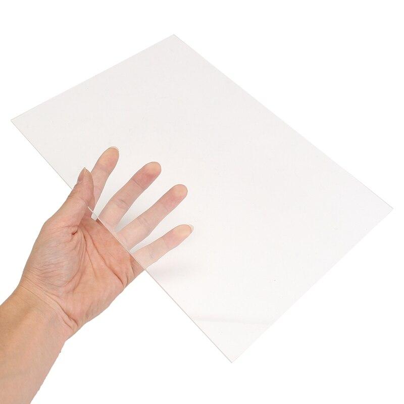A4 Clear Transparent Extruded Plexiglass Sheet Acrylic Board Organic Polymethyl Methacrylate 1mm 3mm 8mm Thickness 297x210mm