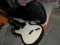 Factory custom shop 2017 Newest Arrival Custom St Vintage White Electric Guitar Gold hardware Free shipping with case 1 6