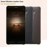 For Huawei Mate 9 Case Smart Window Flip Leather Case For Fundas Huawei Mate 9 Phone