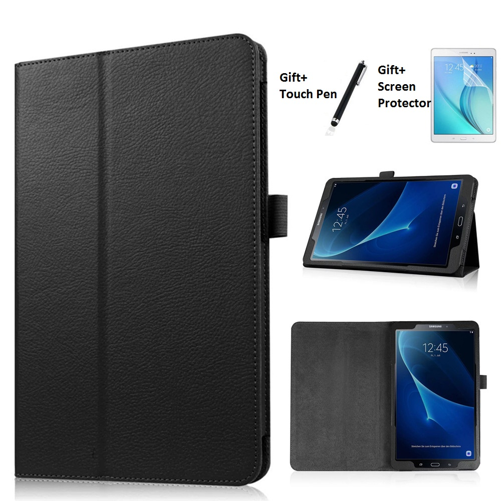 2 Section Foldable Litchi Pattern Protective Cover Case For Samsung Galaxy Tab A A6 10.1 T585 T580 T580N Cases