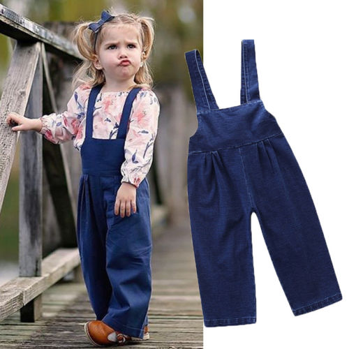5eee7218ebc Toddler Kids Baby Girls Denim Strap Bib Pants Romper Fashion Jeans Hare Overalls  Jumpsuit Playsuit Clothes-in Overalls from Mother   Kids on Aliexpress.com  ...