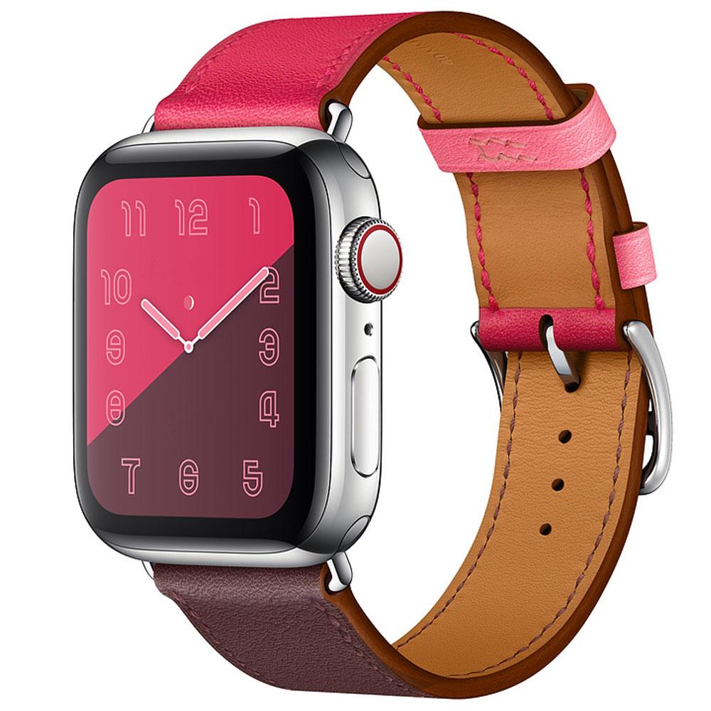 Originální kožený pásek na hodinky pro hodinky Apple 44MM 40MM - Příslušenství k hodinkám - Fotografie 2