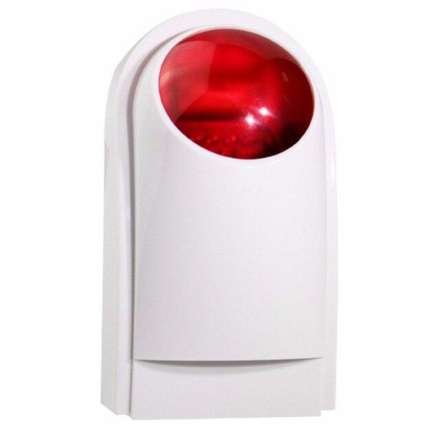 High Sensitive Wireless Outdoor Siren Flashing Red Light Strobe Siren  433MHz For Home Alarm System 110dB