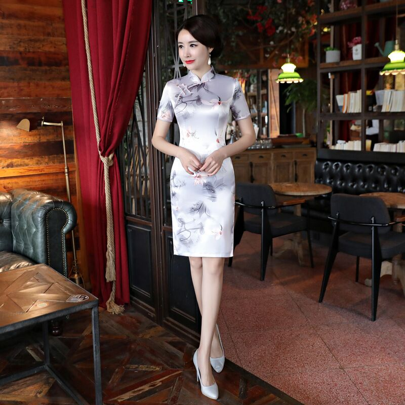 Learned Short Style Womens Mini Cheongsam New Arrival Chinese Lady Summer Rayon Slim Qipao Dress Vestidos Size S M L Xl Xxl Xxxl 415899 Women's Clothing