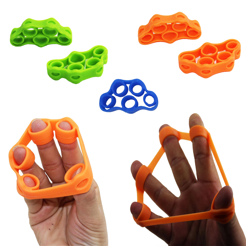 1Pcs Silicone Hand Finger Trainer Ring Anti Stress Toy Student School Increase Focus Toy Antistress For Autism
