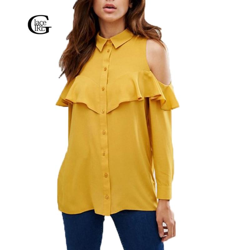 <font><b>Lace</b></font> Girl Women <font><b>Tops</b></font> 2016 Spring Autumn <font><b>Yellow</b></font> Long Sleeve Off <font><b>Shoulder</b></font> Blouse Vintage Casual Women Shirt Blusas Plus Size S-6XL