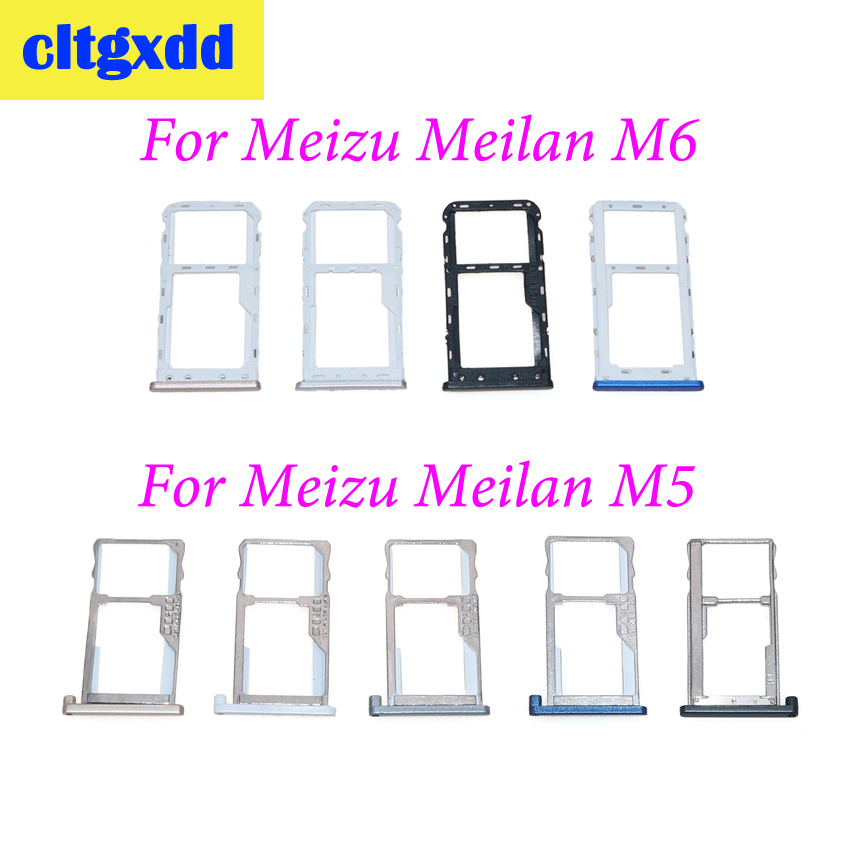 Cltgxdd SIM Holder Slot Adapter Tray For Meizu Meilan M5 M6 Sim Card Adapter Replacement Parts