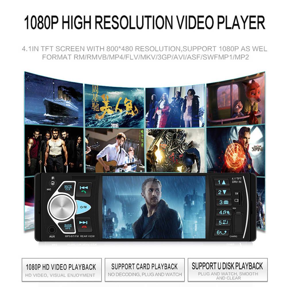 AMPrime 4022D 4.1 ''デジタルスクリーン 1Din 車ラジオサポート USB AUX FM Bt ステアリングホイールリモコン逆カメラ