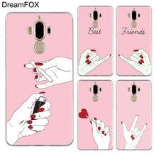 DREAMFOX M531 Love Gesture Soft TPU Silicone Case Cover For Huawei Mate Nova 2 9 10 20 30 Lite Pro Plus