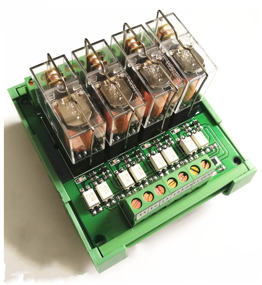 4-Channel Omron PLC control board relay module module Quad amplifier board driver board 8 omron relay module driver board microcontroller module eight plc enlarged board