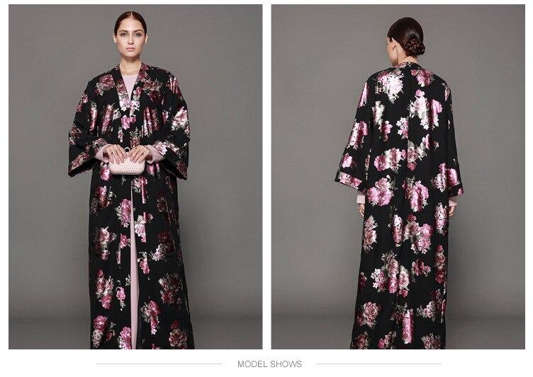 À Longues Lâche Photo Musulmane Manches Shows Robes Partie Jalabiya Kimono As Islamique Vêtements Cardigan Robe Style Abaya Moyen orient Jilbab Fleur dxYHq1n8wP