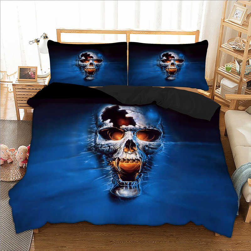 Skull Bedding Set Car Duvet Cover Bed Cover Quilt Cover Pillow Cases Twin Full Queen King Double Super King Size 3pcs