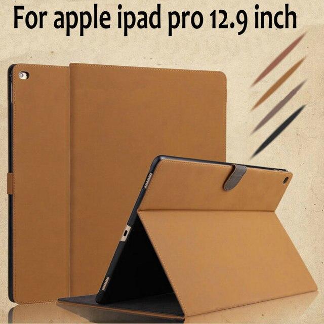 2015 новый ретро роскошный кожаный PU защитный чехол для ipad apple , pro 12.9 дюймов планшет пк для ipad pro защитная крышка + фильм