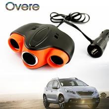 Overe 1 шт. Авто автомобильного прикуривателя USB разъем для Honda Civic Accord Fit Subaru Impreza Forester XV Nissan Qashqai Juke tiida