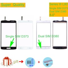 For LG Series III L80 Single D373 L80 Dual SIM D380 Touch Screen Touch Panel Sensor Digitizer Front Glass Outer Lens Touchscreen