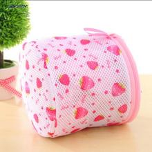 1pc New Women Lingerie Underwear Bra Sock Laundry Basket mesh bag Washing Aid Net Mesh Zip Bag