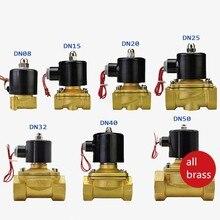 2 W чистый латунный Соленоидный клапан водяной воздушный клапан 2W-025-08 2W-040-10 2W-160-15 2W-200-20 2W-250-25
