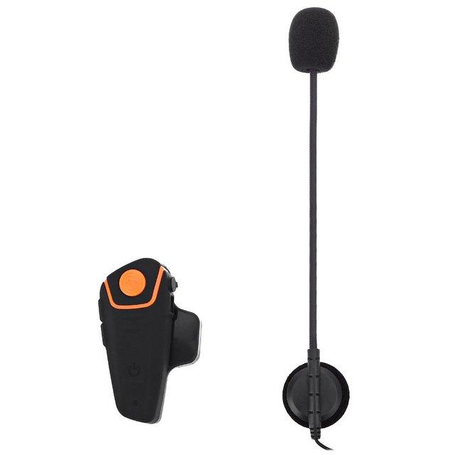 2016 Capacete Interfone Interfone Plugue DA UE À Prova D' Água Sem Fio Bluetooth GPS FM Kit Mãos Livres Headsets Motocicleta