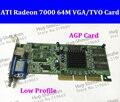 Nova marca Sapphire ATI Radeon 7000 64 M SDRAM TVO/VAG AGP Radeon 7000 64 M de VÍDEO DE Baixo perfil CARTÃO