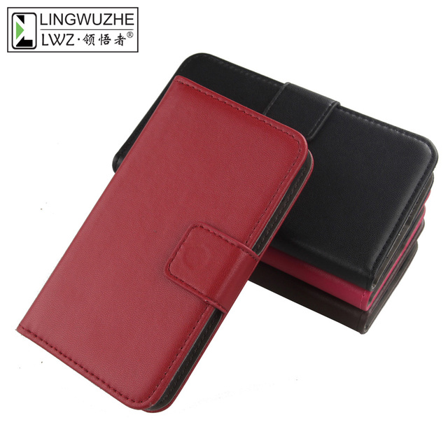 LINGWUZHE New Arrive Genuine Leather Cover For THL T200 T200C Magnet Wallet Flip Phone Case