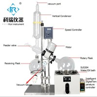 Distillation heating equipment Lab Rotovap with 5L Rotary Evaporator Flask with intelligent digital Temperature display