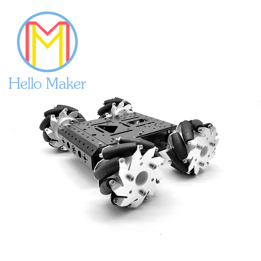 C300 4WD Auto. mecanum wiel. aluminium. slimme auto. voor DIY Fans. speelgoed auto. robot Studie.-in Onderdelen & accessoires van Speelgoed & Hobbies op  Groep 1