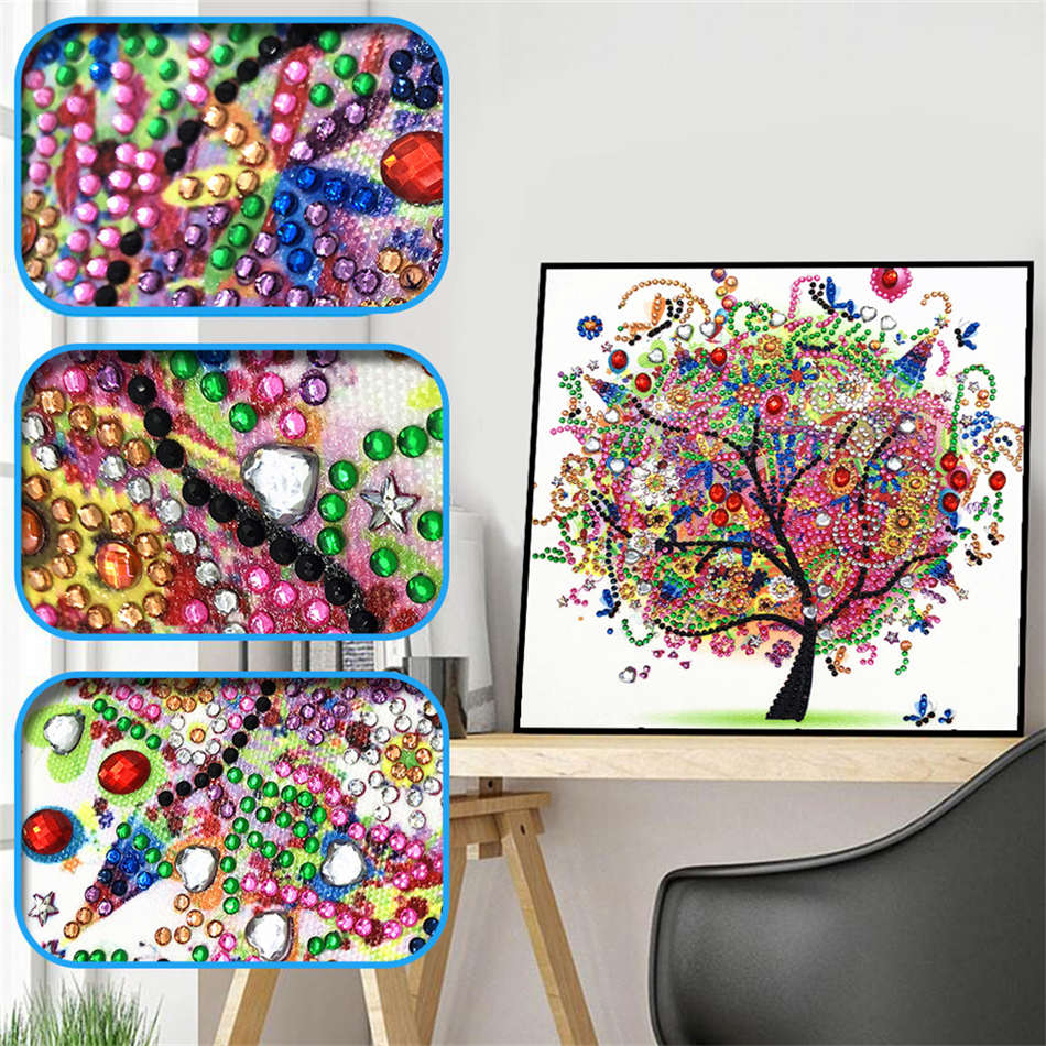 Special Shaped Diamond Painting DIY 5D Partial Drill Cross Stitch Kits Crystal D