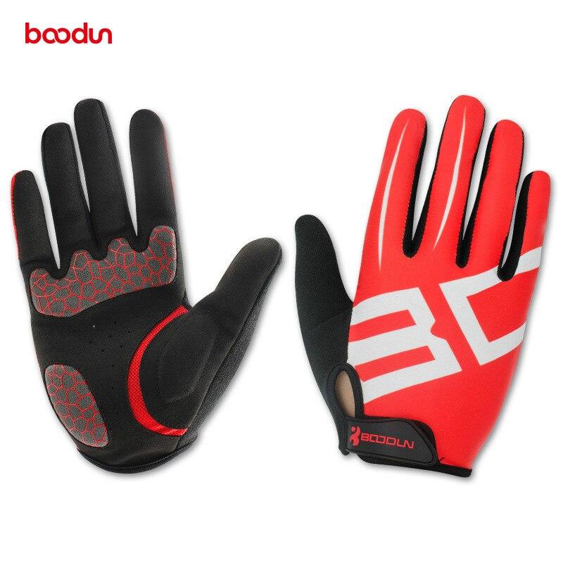 Prix pour Boodun hommes femmes vélo gants plein doigt gel moto vtt vélo de route vélo équitation mitaines gants velo guantes luva ciclismo
