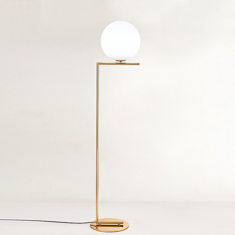 Nordic Design Post Modern Gold White Meatl LED Tall Floor Lamp Stand Light With Table For Living Room Deauty Salon 90-265V