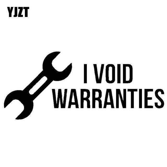 YJZT 15.2 CM * 6.5 CM I ANULAR GARANTIAS de Corrida Turbo Boost Decalque Personalidade Etiqueta Do Carro Vinil Preto/Prata C10-00909