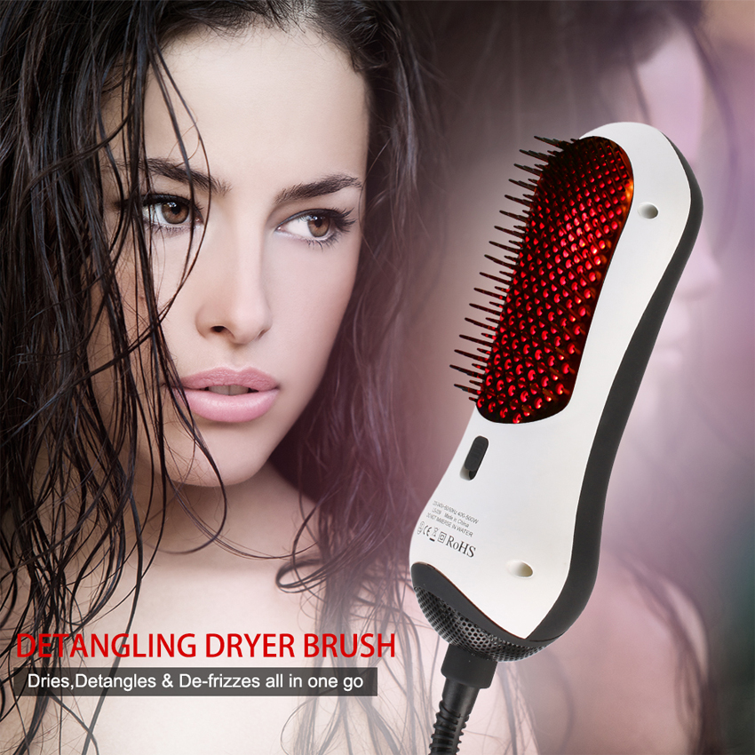 Infrared hair comb portable hot air comb combo straight two straight hair comb hot air comb Free Shipping цена 2017