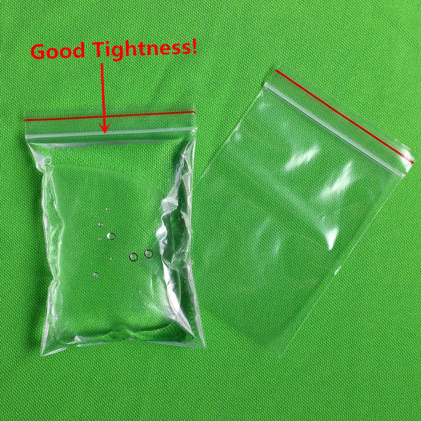 3 Kinds Thickness 8x12cm Self Sealing Zipper Ziplock Plastic Package Reclosable Clip Chain Grocery Small Bags 500pcs