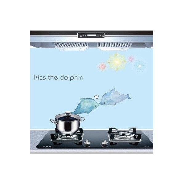 Самоклеющиеся обои для кухни из алюминиевой фольги, наклейки для кухонного шкафа, маслостойкие водонепроницаемые Мультяшные наклейки на стену - Цвет: E