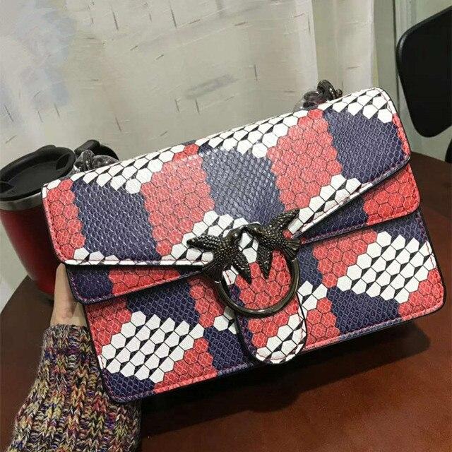 Luxury Brand Women Chain Messenger Shoulder Bags Patchwork Leather Handbag  Clutch Purse Designer Swallow Luis Vuiton GG Bags Sac c02d6e0af531