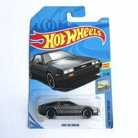 Hot Wheels DMC Arrivals 2018New 8M 1:64 BLACK DMC Car Models Collection Kids Toys Vehicle For Children hot cars