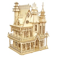 Model building dream villa 3D puzzle jigsaw puzzle model building kits contruction toys for children wood building kit