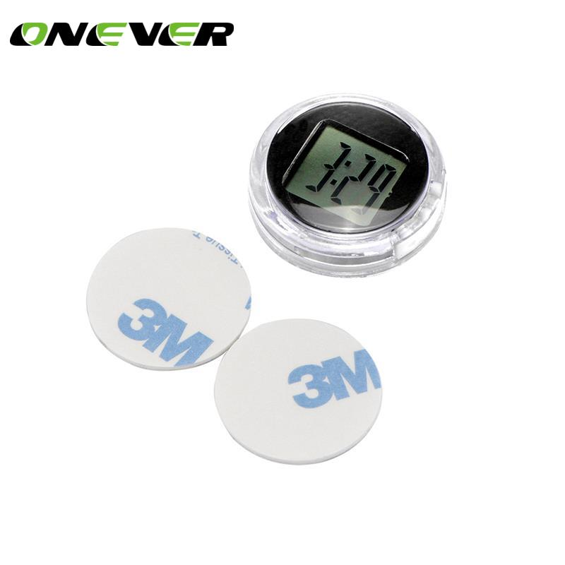 Houkiper Universal Mini Motorcycle Clock Houkiper Waterproof Stick-On Motorbike Digital Clock Dia 1.1