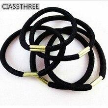 10pcs/lot Stout Black Hair Holders Elasticity Rubber Hair Band Tie Hair for Girls Women  Hair Accessories
