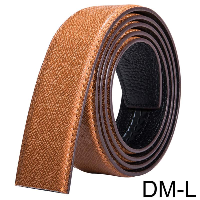 Men/'s DiamondTexture Pattern Genuine Leather Belt Available solid Black /& Brown