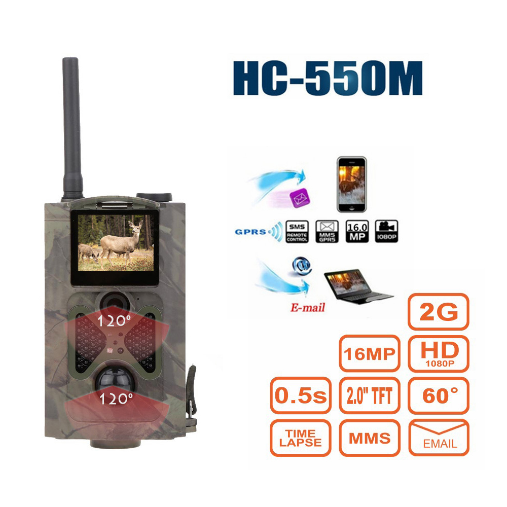 2G GSM MMS Infrared Night Vision Hunting Trail Camera  HC550M Hunter Cams 16MP 1080P Photo Traps Video Tracking 2G GSM MMS Infrared Night Vision Hunting Trail Camera  HC550M Hunter Cams 16MP 1080P Photo Traps Video Tracking
