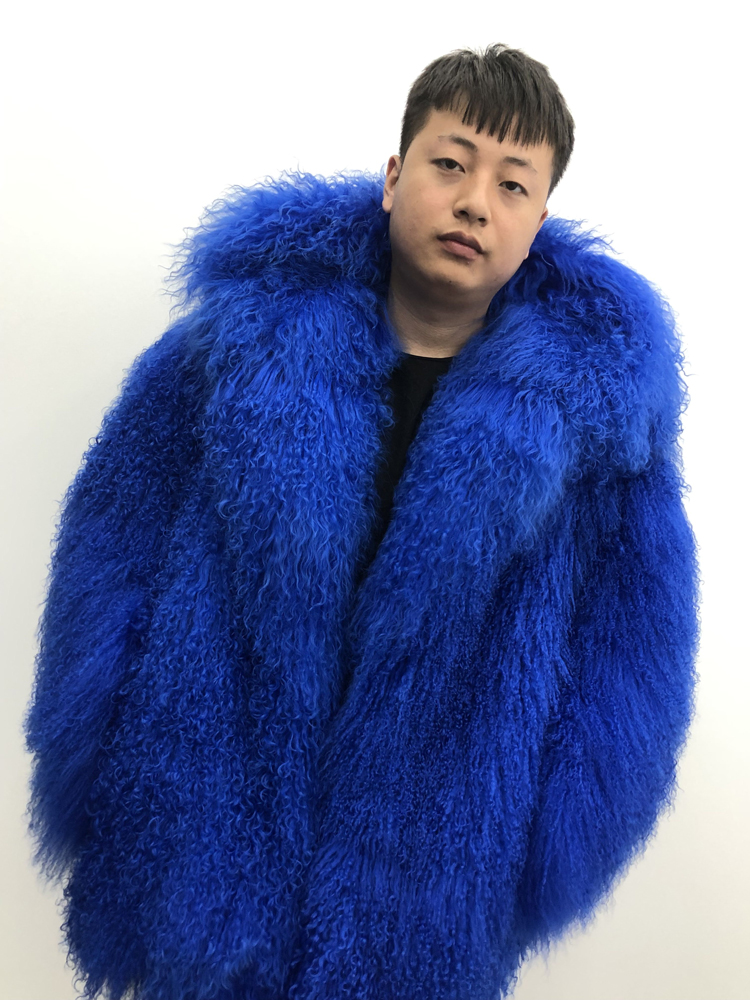 2019 Men s real mongolian sheep fur coat hooded warm winter outerwear lapel beach wool fur 2019 Men's real mongolian sheep fur coat hooded warm winter outerwear lapel beach wool fur overcoat long sleeve Jacket