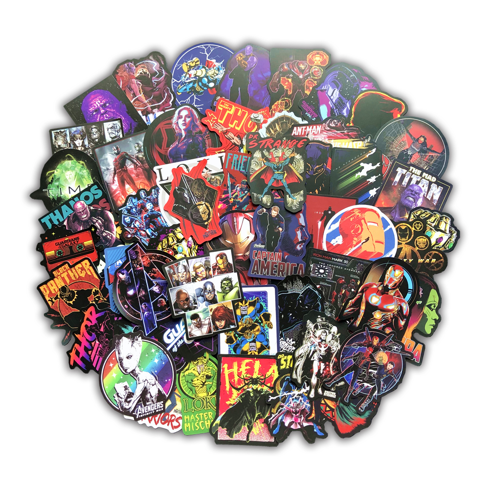 108pcs Super Cool Super hero Stickers Toy Sticker for Luggage Laptop Phone Fridg