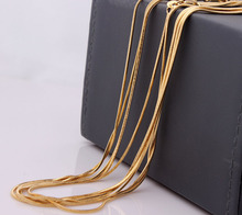 Vnfuru Gold Snake Necklace For Men Accessories Jewelry 18 24 26 inch Long Chain Pack of 2pcs