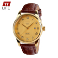 TTLIFE Men Sports Luxury Genuine Calf Lady Leather Watches Business And Casual Quartz Wristwatch With Auto Date New 2016 9058