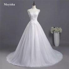 ZJ9041 кружевные тонкие бретельки белого цвета и цвета слоновой кости модные сексуальные свадебные платья для невест размера плюс макси размер 2-26W поезд