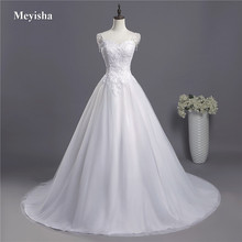 ZJ9041 2019 2020 lace Spaghetti Straps White Ivory Fashion Sexy Wedding Dresses for brides plus size maxi size 2 26W Train