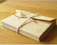 10pcs/lot 16.5*11cm Kraft Paper Envelope Vintage Blank Letter Writing